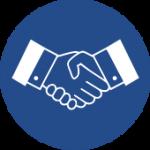 Handshake - Blue - S
